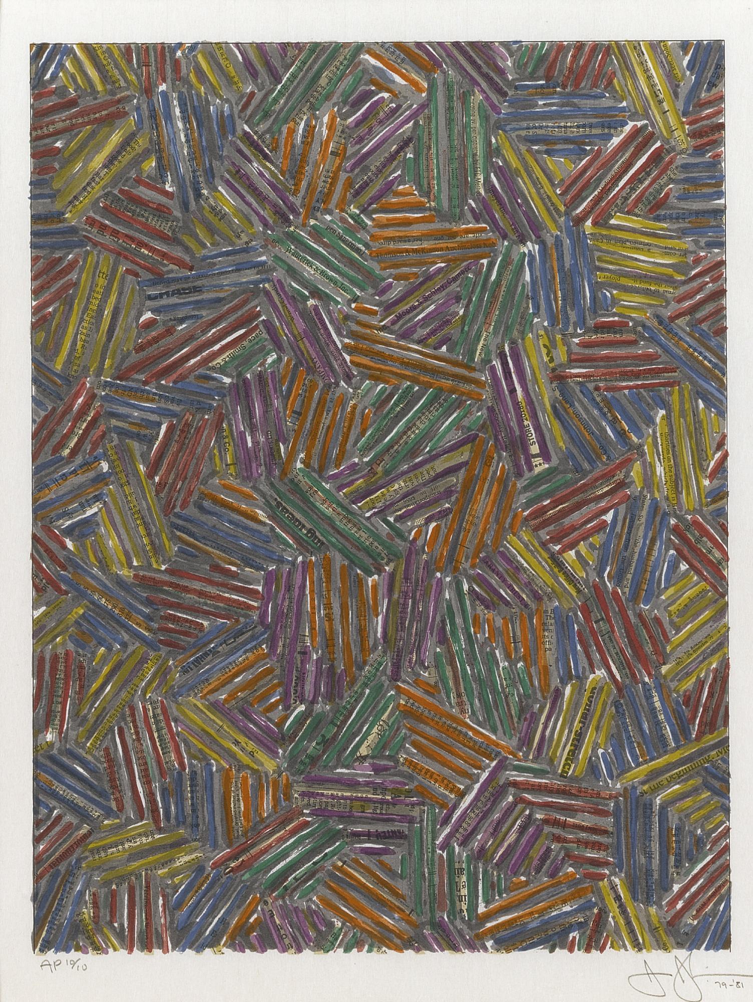 Jasper Johns-Cicada II (Ulae 214)-1981