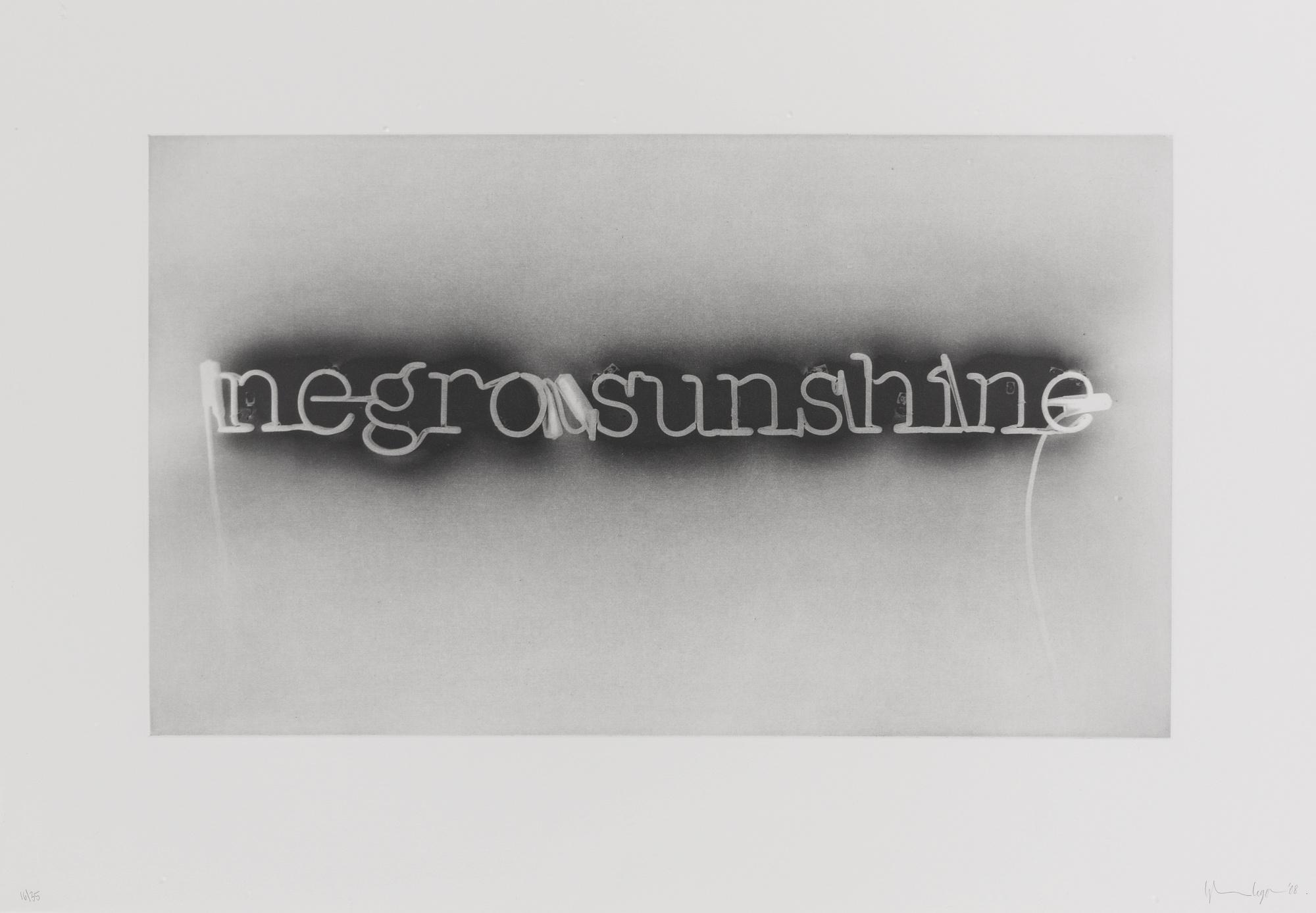 Glenn Ligon-Warm Broad Glow (Reversed)-