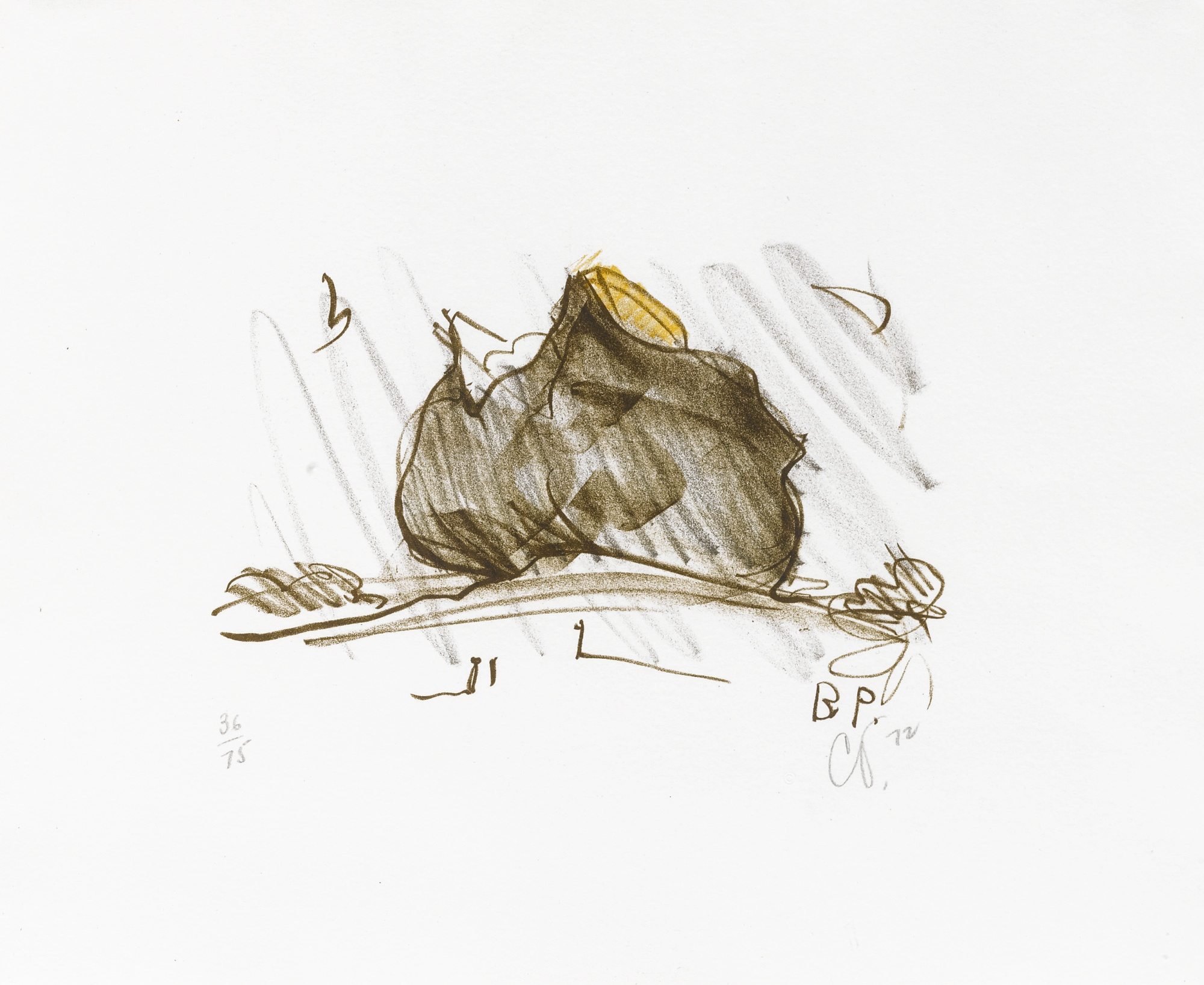Claes Oldenburg-Colossal Baked Potato In Landscape (Axsom/Platzker 79)-1972