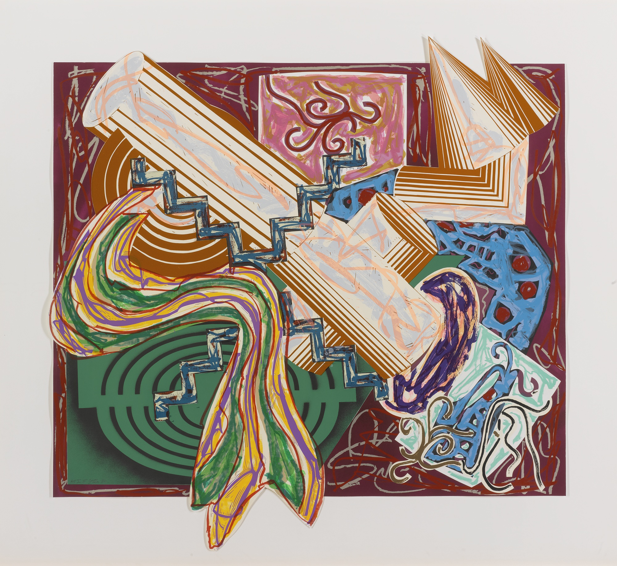 Frank Stella-Then Came A Stick And Beat The Dog-1984