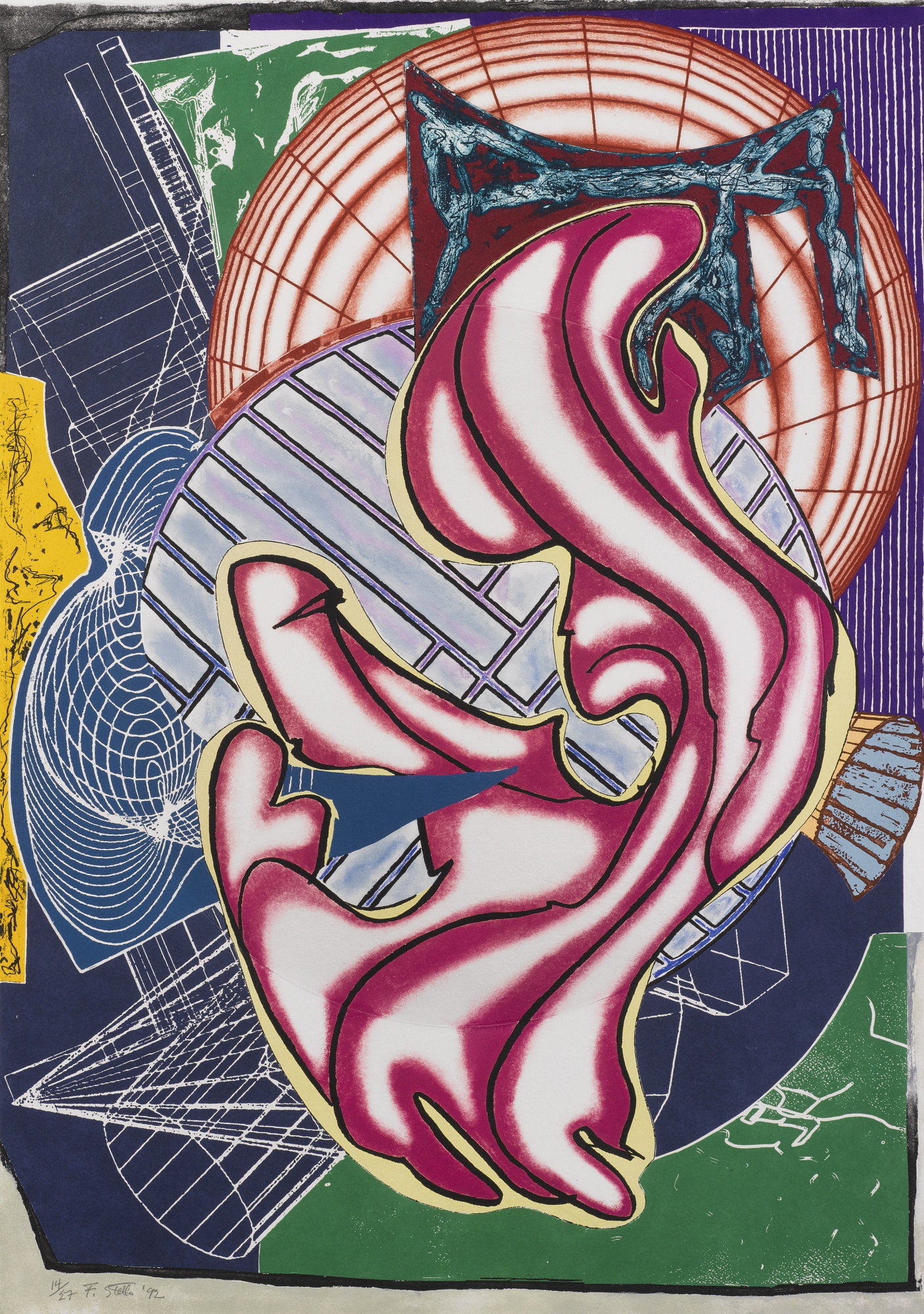 Frank Stella-Stubb & Flask Kill A Right Whale-1992