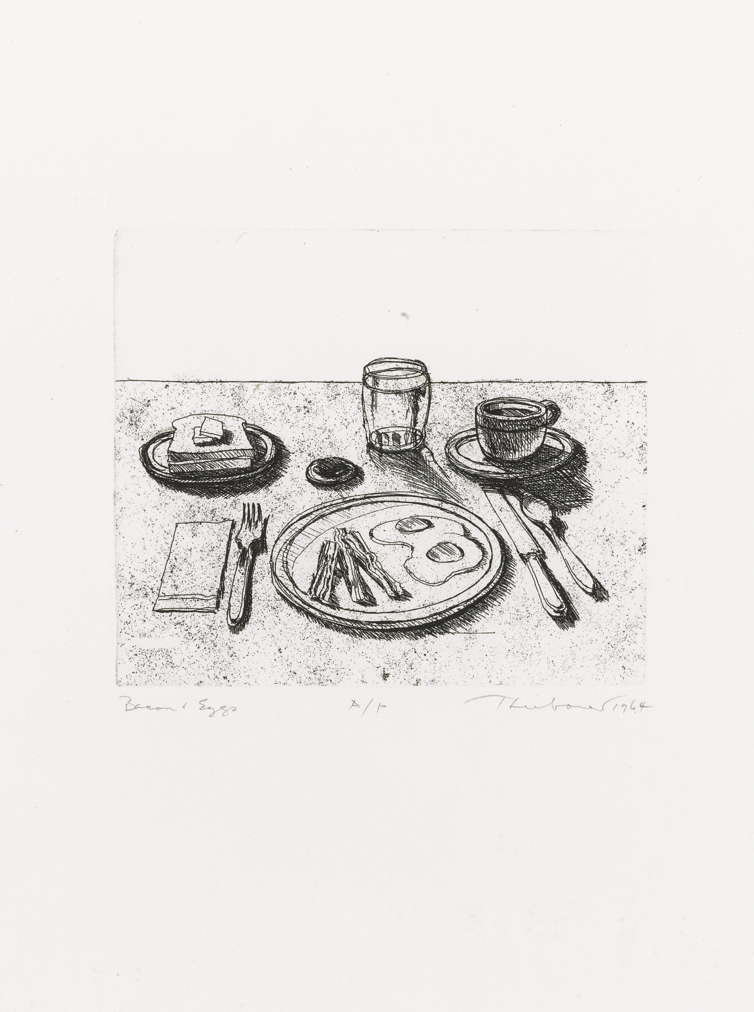 Wayne Thiebaud-Bacon And Eggs-1964