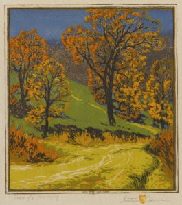 Gustave Baumann-Road Of A Morning-1918