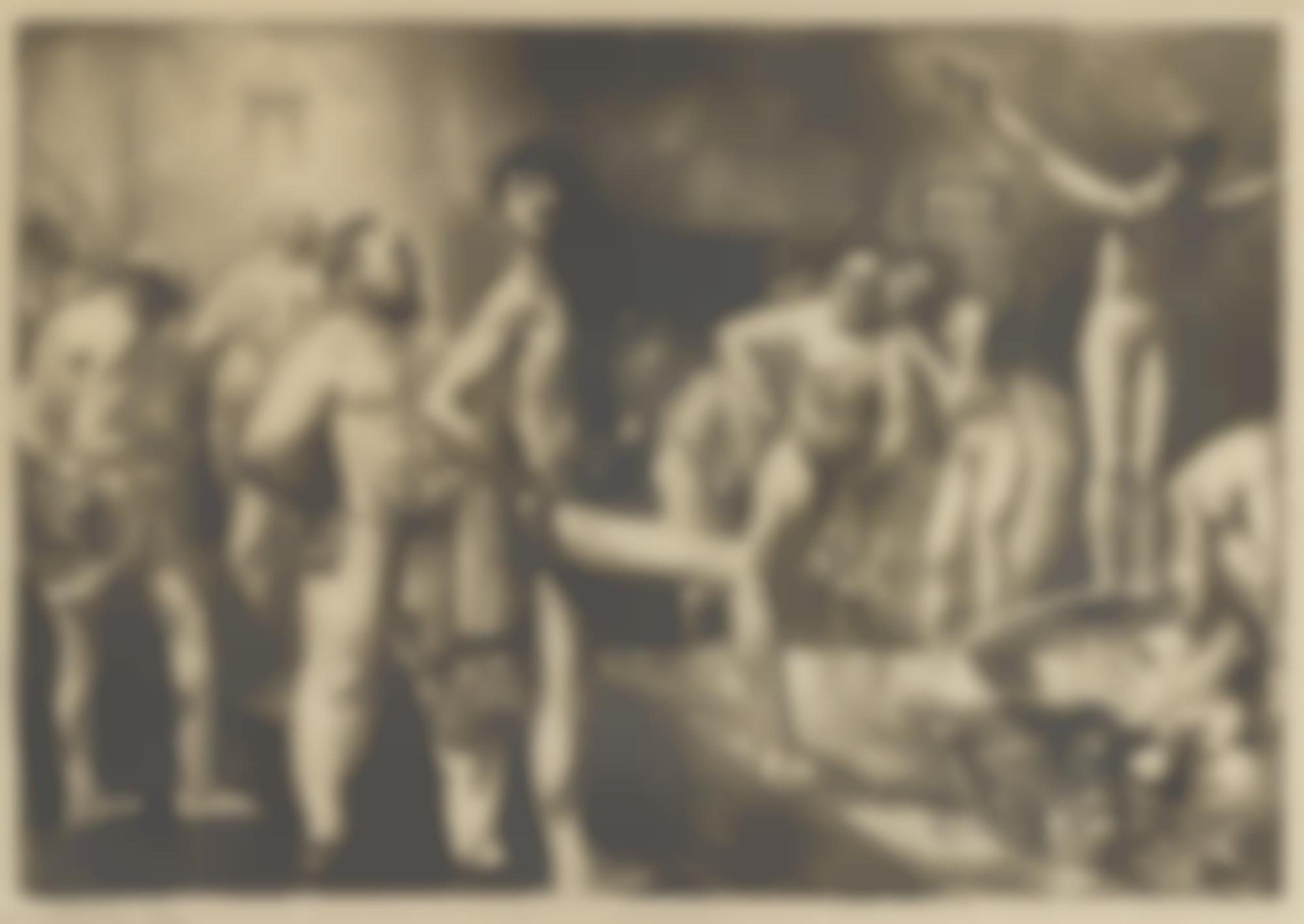 George Bellows-Business-Men'S Bath (M. 145)-1923