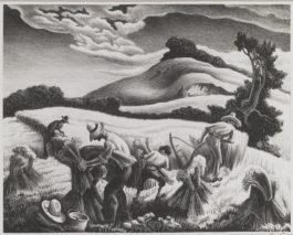 Thomas Hart Benton-Cradling Wheat (Fath 27)-1939