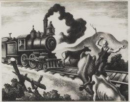 Thomas Hart Benton-Slow Train Through Arkansas (F. 46)-1941