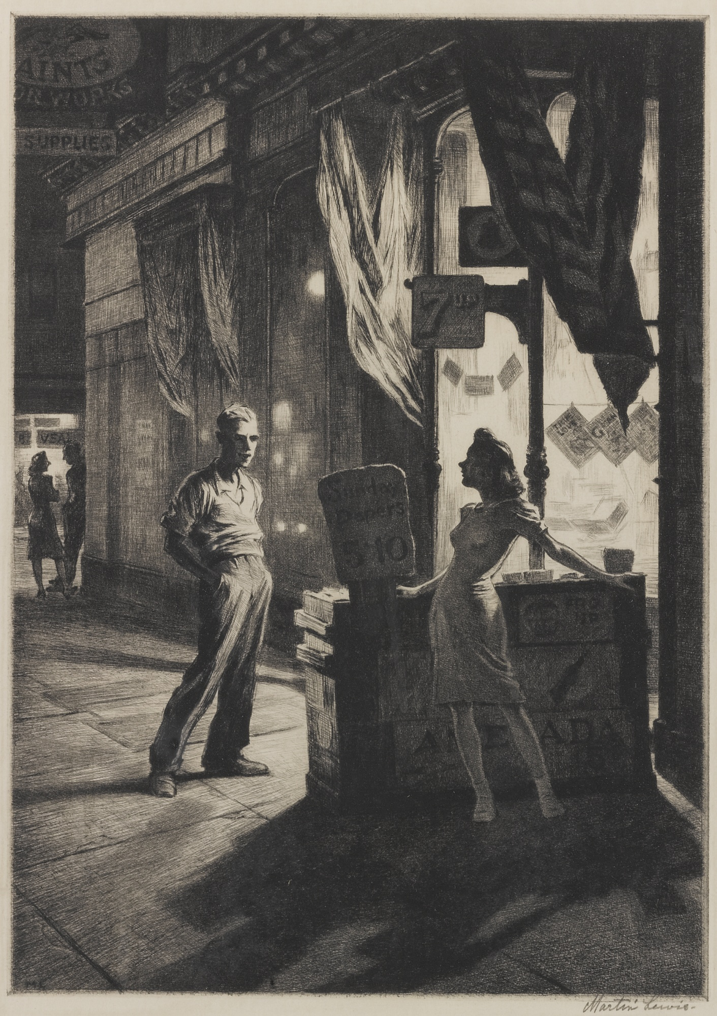 Martin Lewis-Chance Meeting (Mccarron 131)-1941