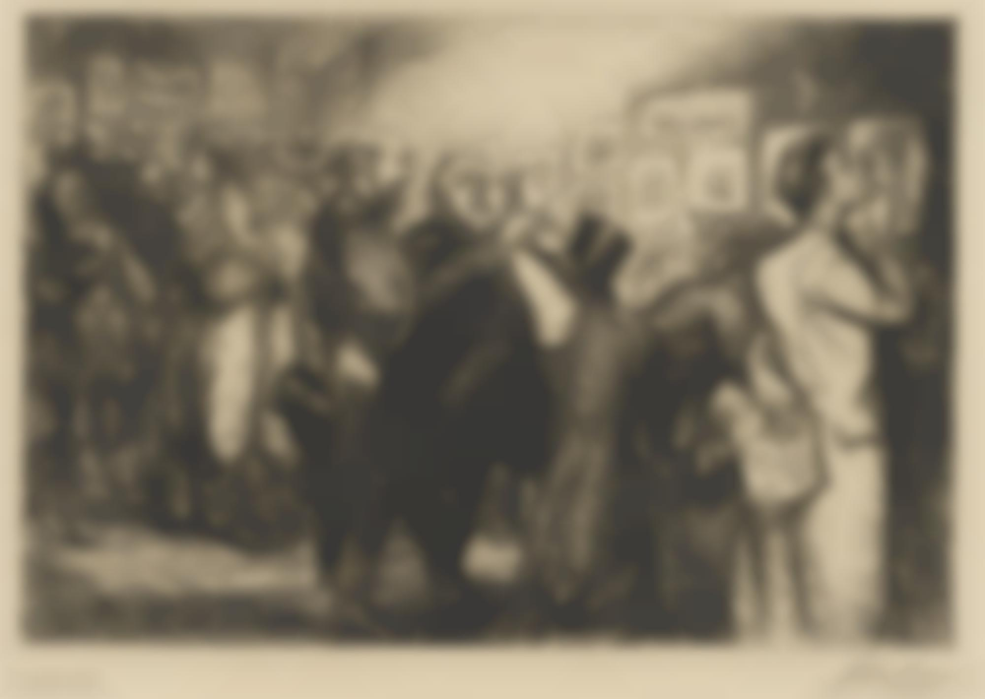 John Sloan-New York City Life (Including: Connoisseurs of Prints (M. 127); Fifth Avenue Critics (M. 128); The Show Case (M. 129); Man Monkey (M. 130); Fun, One Cent (M. 131); Women's Page (M. 132); Turning Out the Light (M. 134); Man, Wife and Child (M. 135); Roofs, Summer Night (M. 137); The Little Bride (M. 138); Girl and Beggar (M. 150); Night Windows (M. 152); Picture Buyer (M. 153))-1911