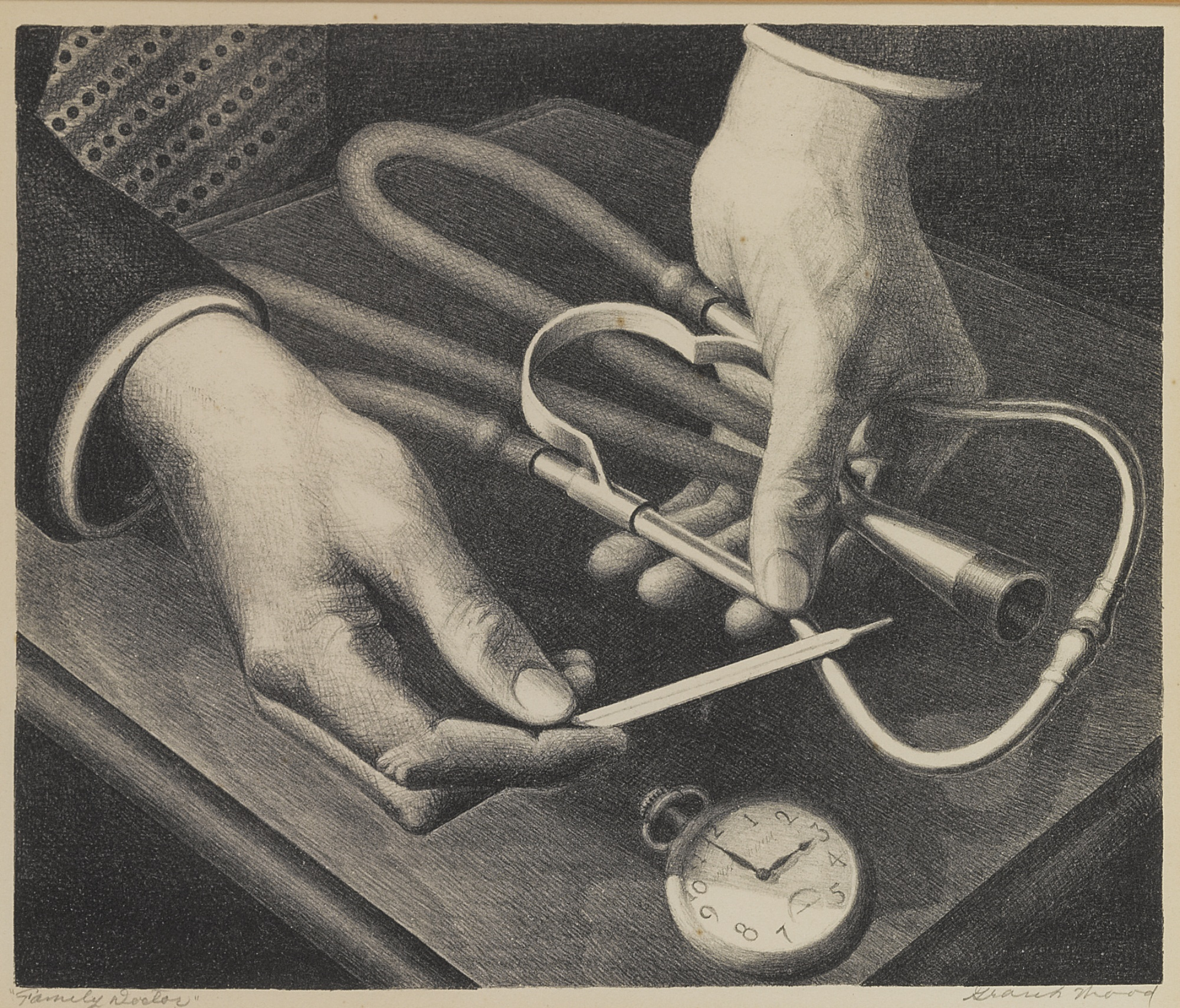 Grant Wood-Family Doctor (Cole 179)-1941