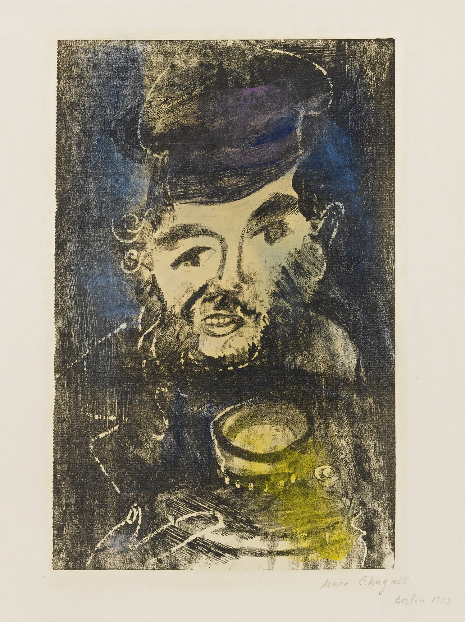 Marc Chagall-Man With Samovar (M. 4)-1923