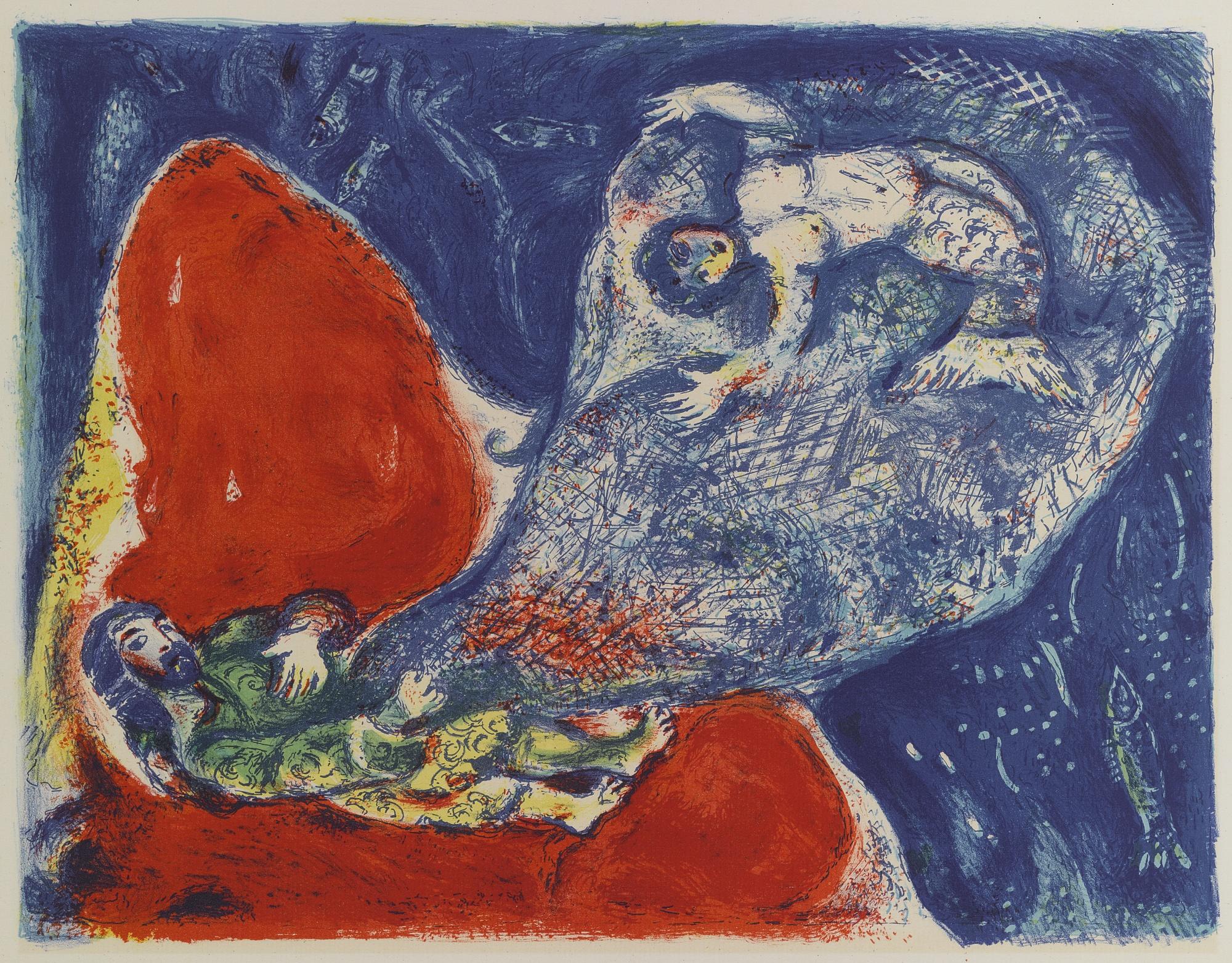 Marc Chagall-When Abdullah Got The Net Ashore... (M. 43)-1948