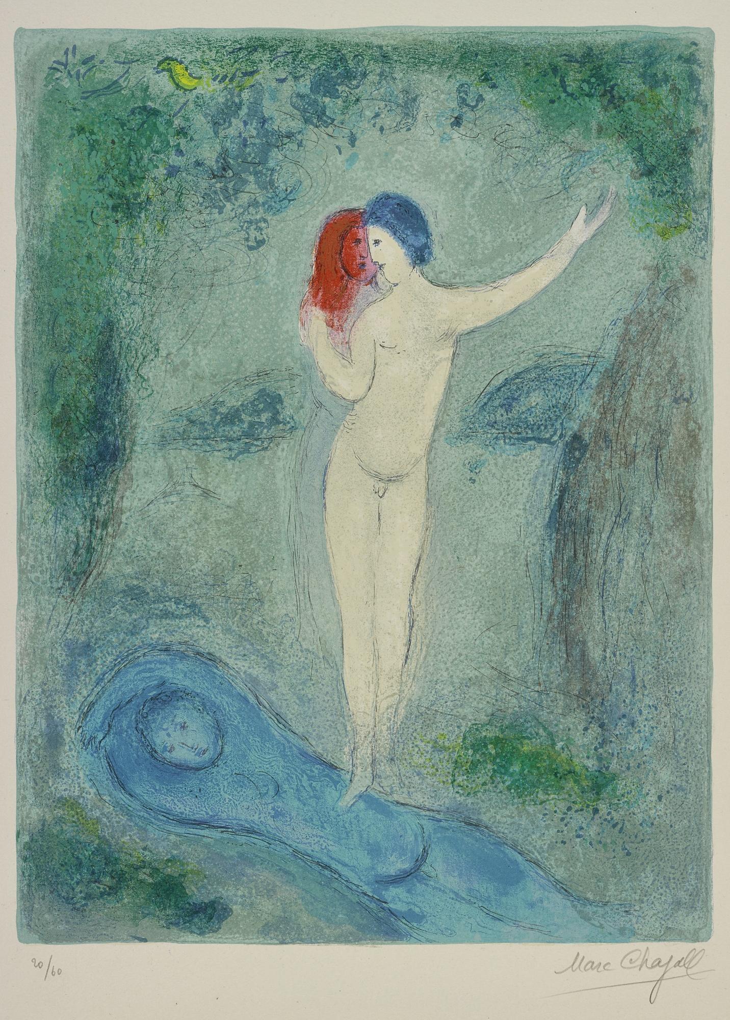 Marc Chagall-Le Baiser De Chloe (M. 316)-1961