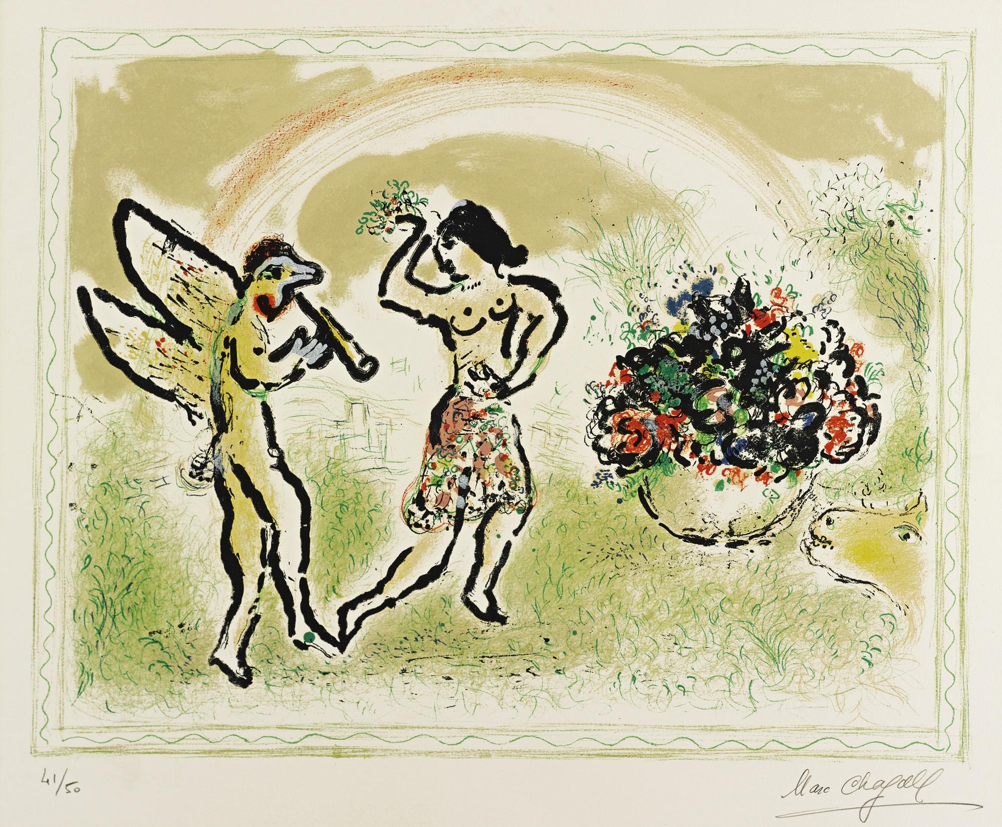 Marc Chagall-Bacchante (M. 690)-1973
