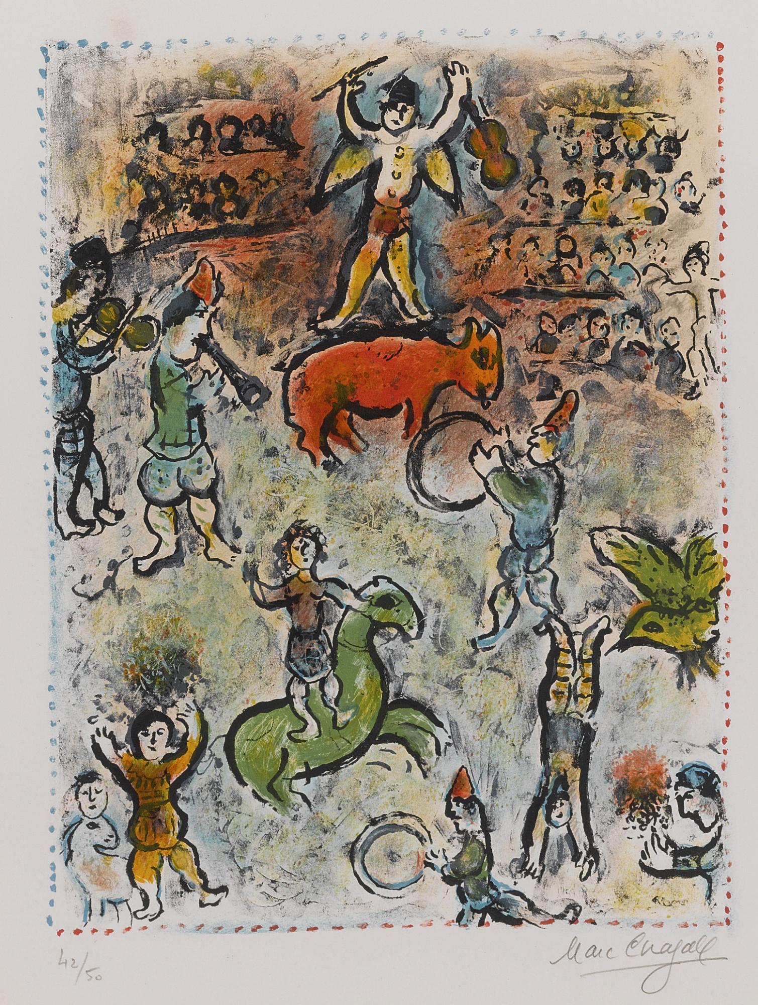 Marc Chagall-Circus Parade (M. 969)-1980