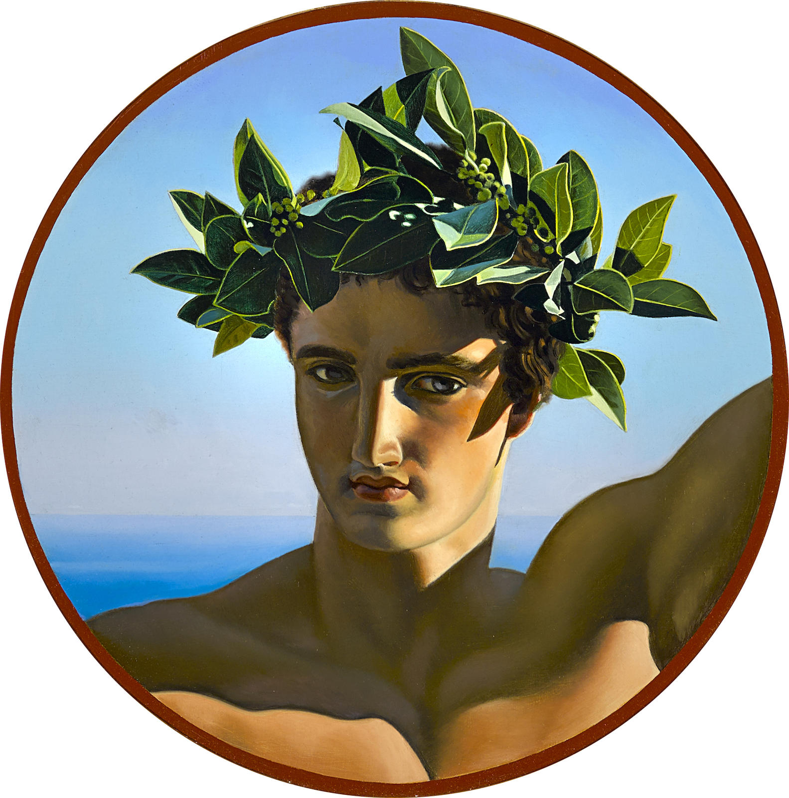 David Ligare-Study of a Youth Wearing a Champion's Laurel Wreath-1984
