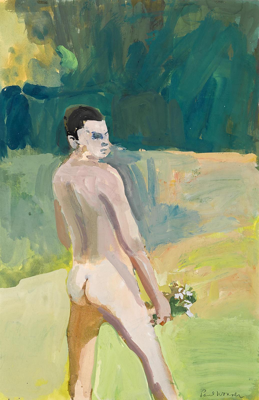 Paul Wonner-Portrait of a Man-