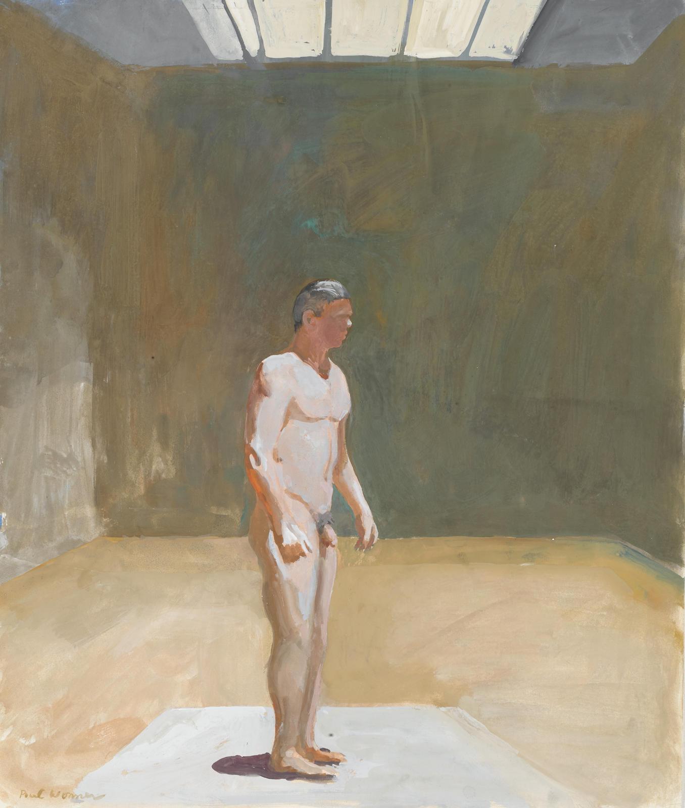 Paul Wonner-Model in Large Studio-1968