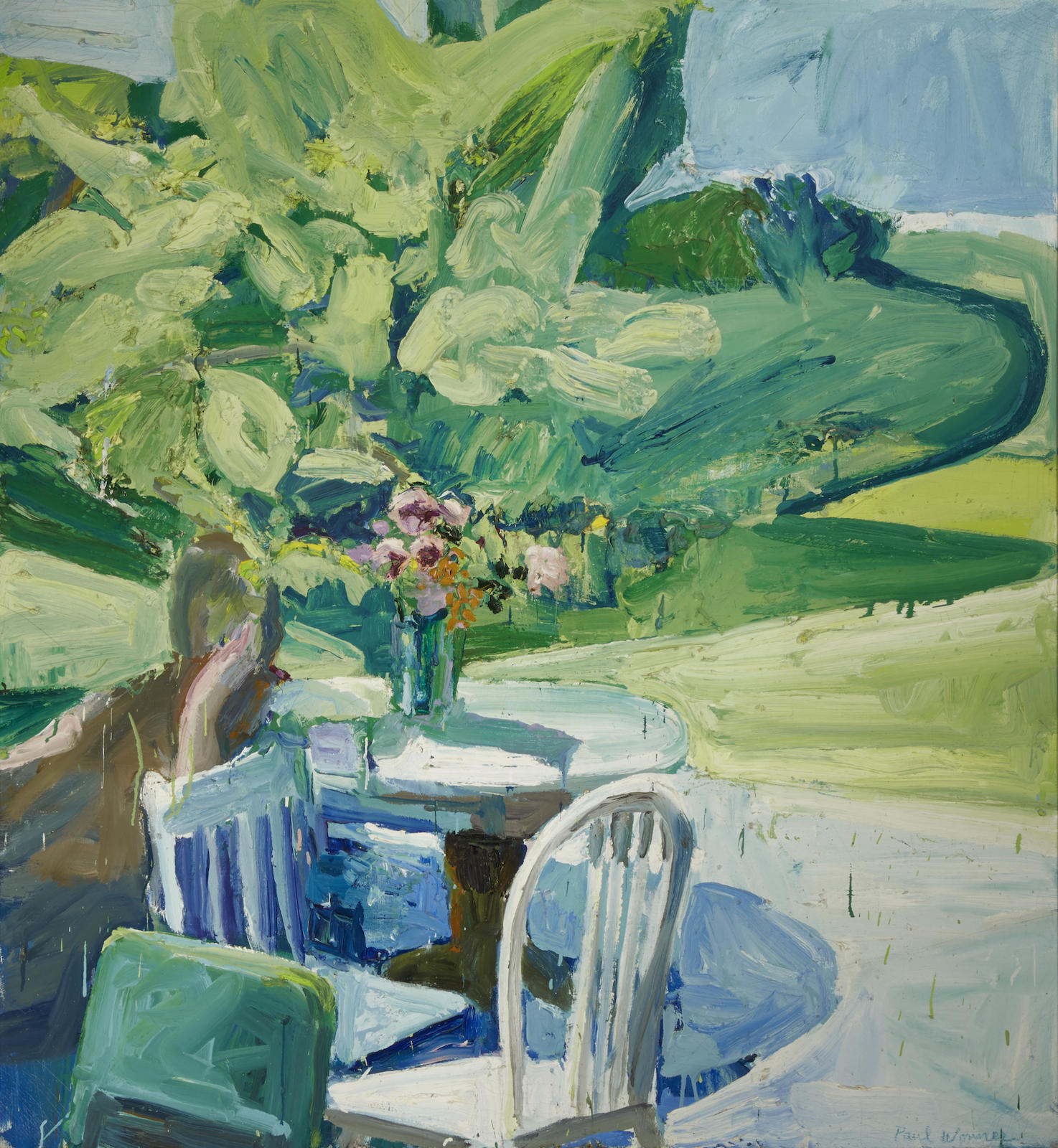Paul Wonner-Figure by Terrace Table in Spring-1960