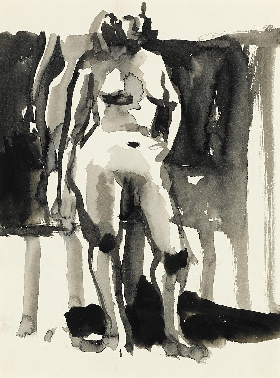 Elmer Bischoff-Standing Nude-
