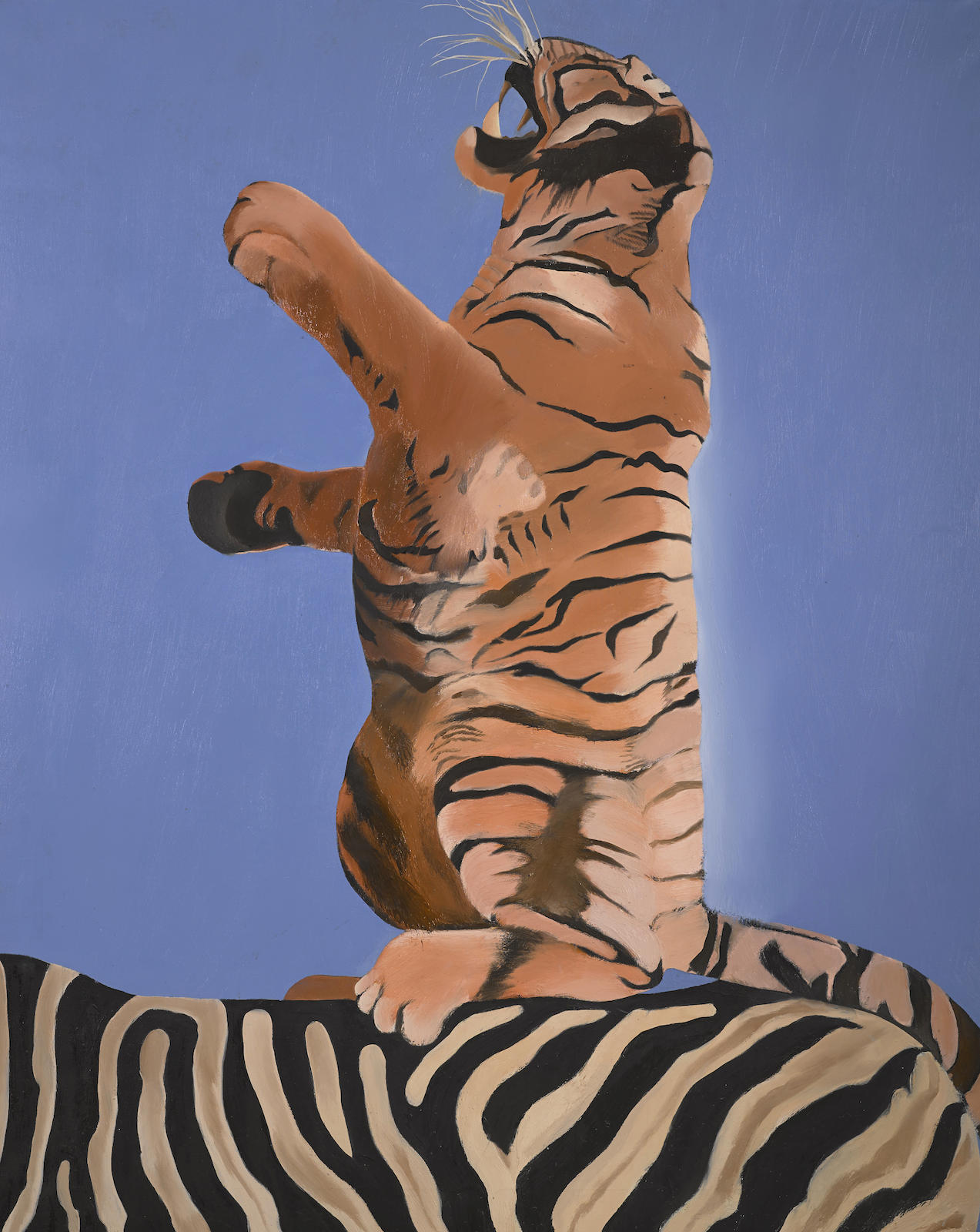 Joan Brown-Tiger Riding the Back of a Zebra-1966