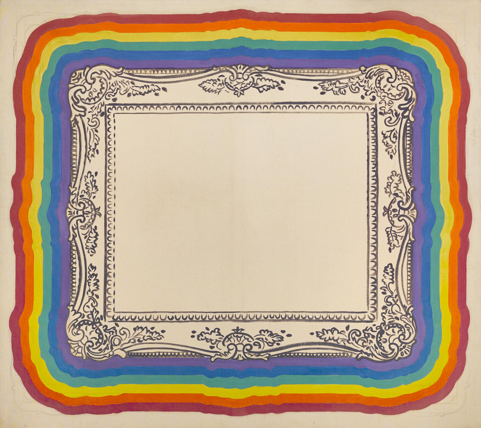 Robert Arneson-Frame Painting #6 (with Rainbow)-1968