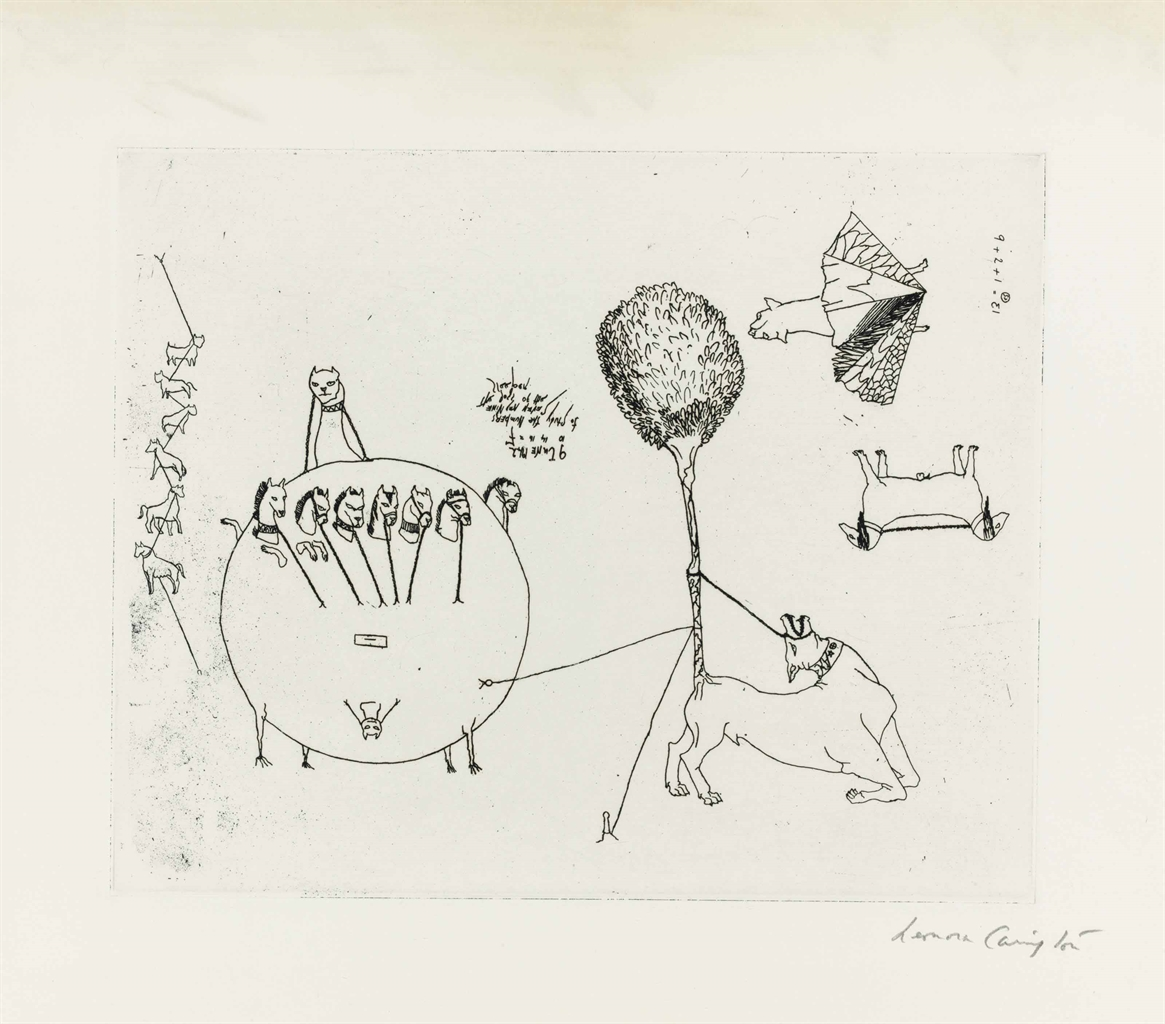 Leonora Carrington-Untitled, from VVV Portfolio-1942