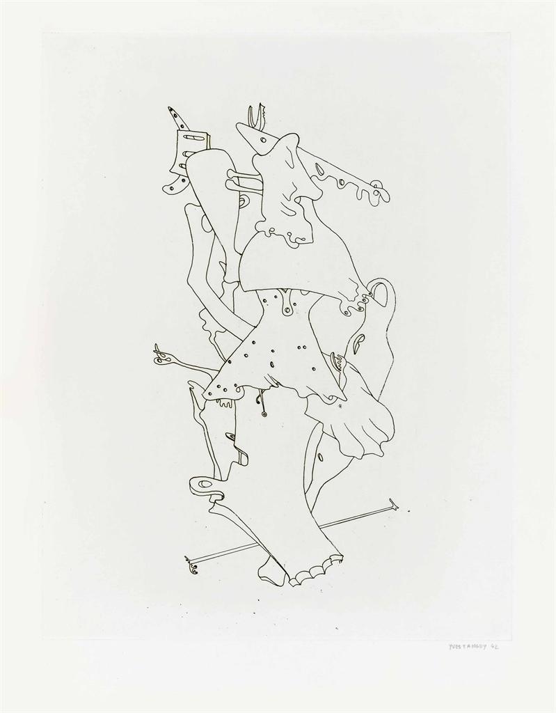 Yves Tanguy-Untitled, from VVV Portfolio-1943