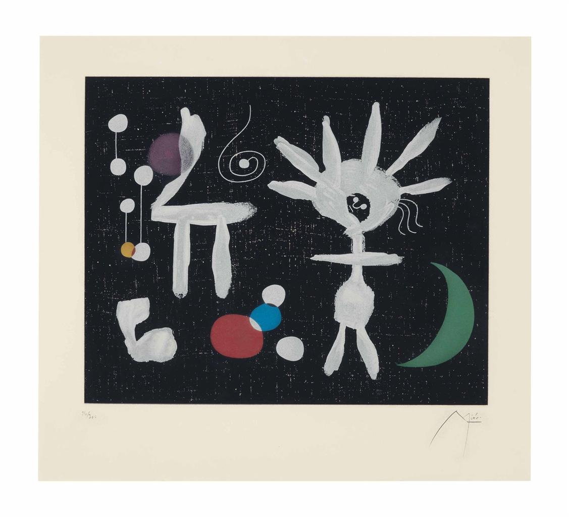 Joan Miro-After Joan Miro - Rose Matinale au clair de la Lune-1958