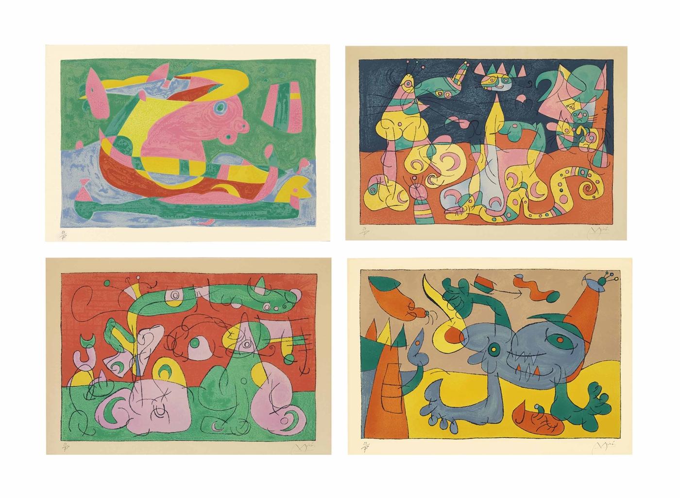 Joan Miro-Suites Pour Ubu Roi-1966