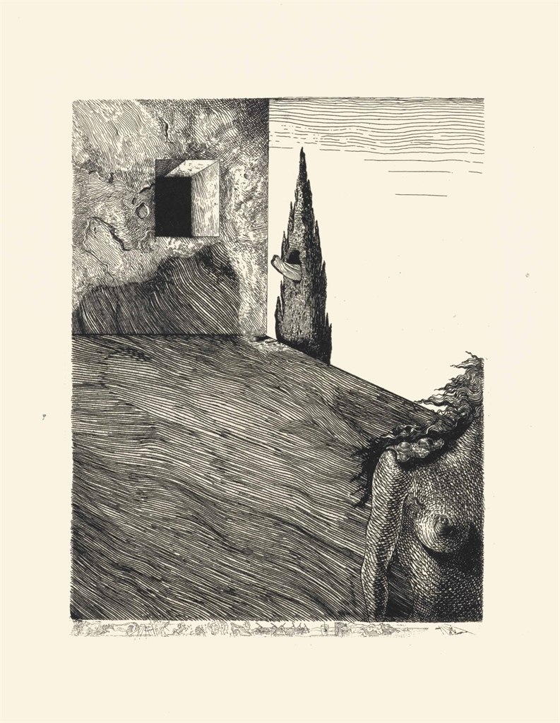 Salvador Dali-Le Revolver a cheveux blancs-1932