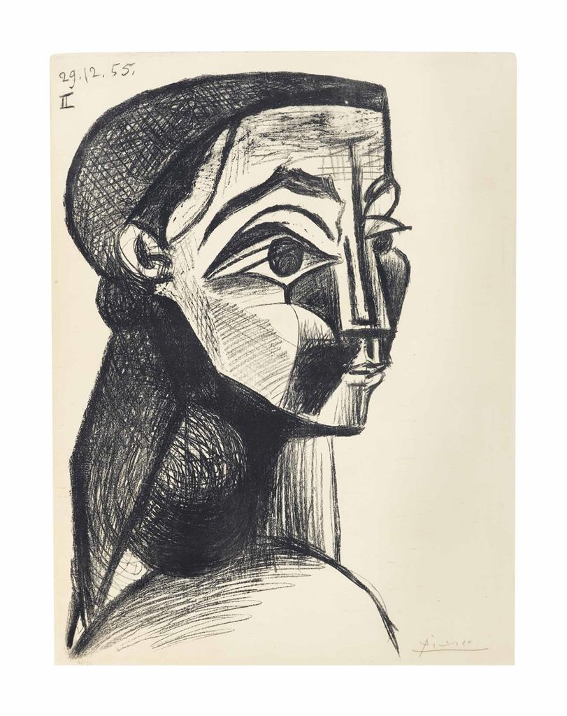 Pablo Picasso-Portrait of a Woman II-1955