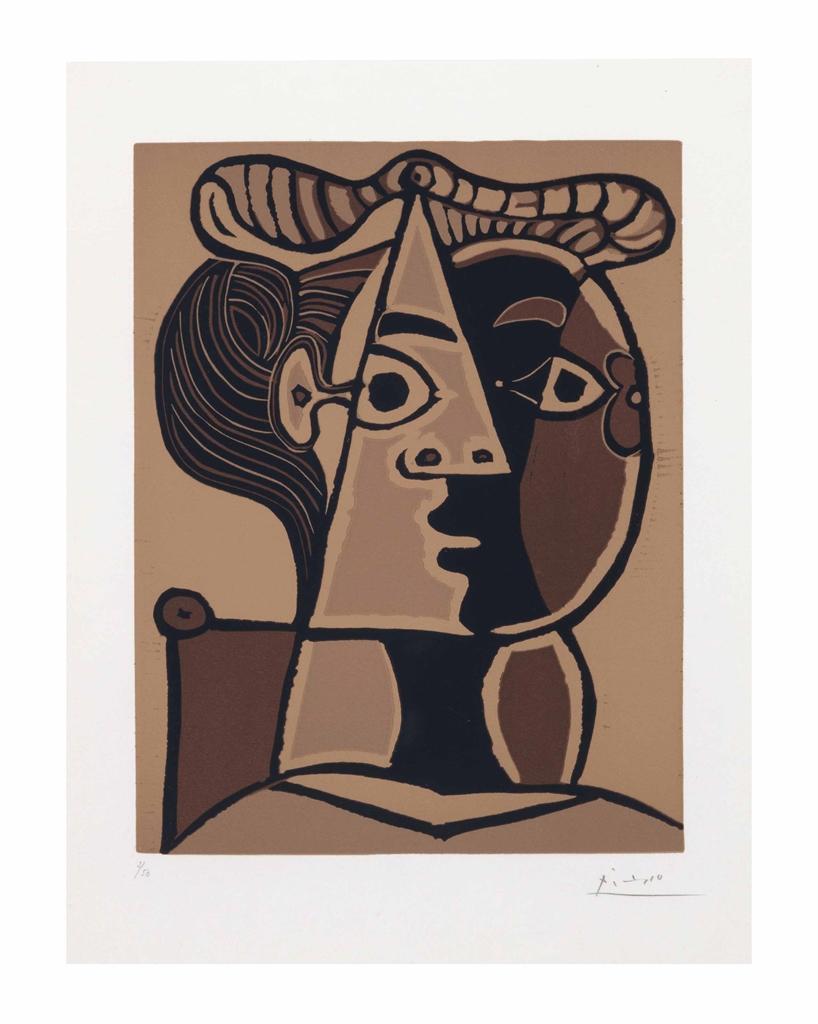 Pablo Picasso-Femme assise au chignon-1962