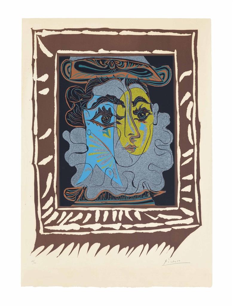 Pablo Picasso-La Femme au chapeau-1962