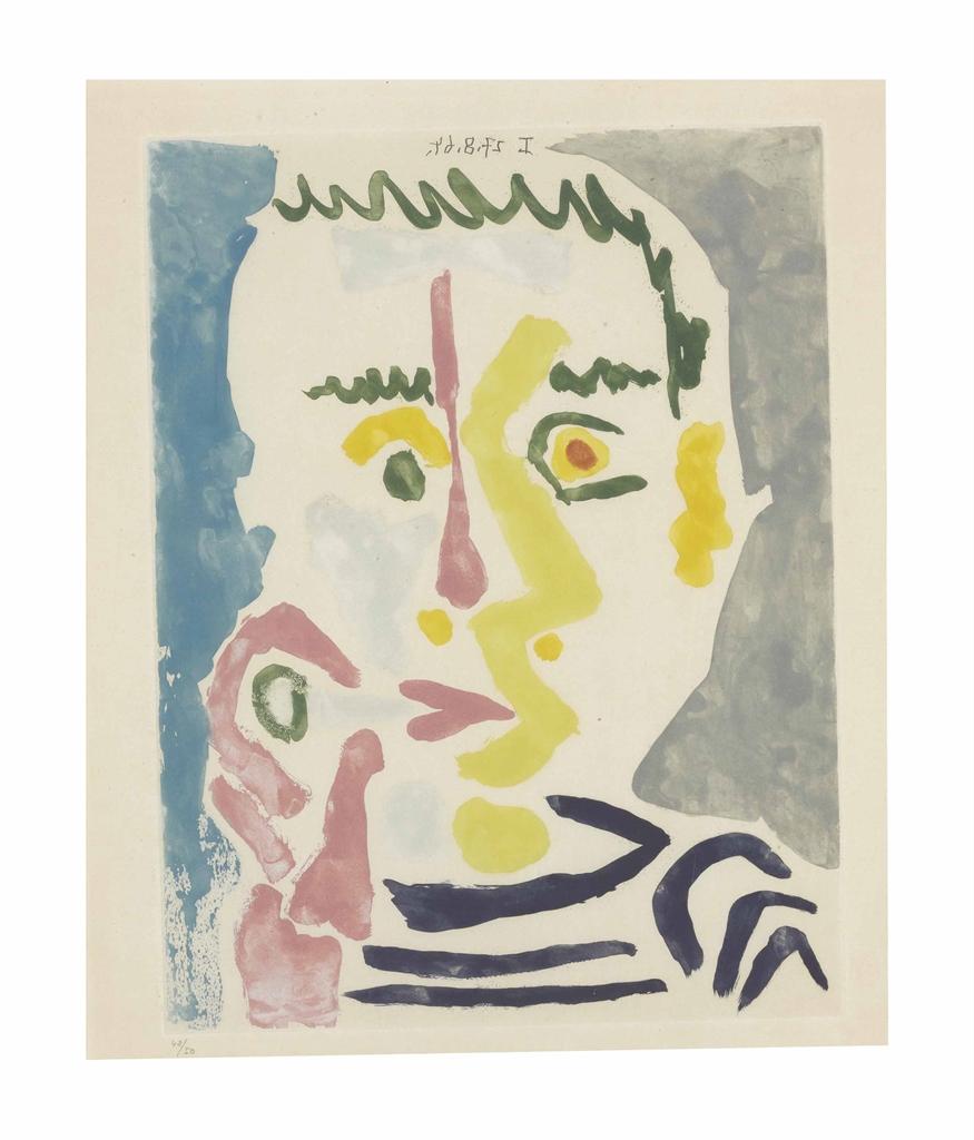 Pablo Picasso-Fumeur a la Cigarette Blanche-1964