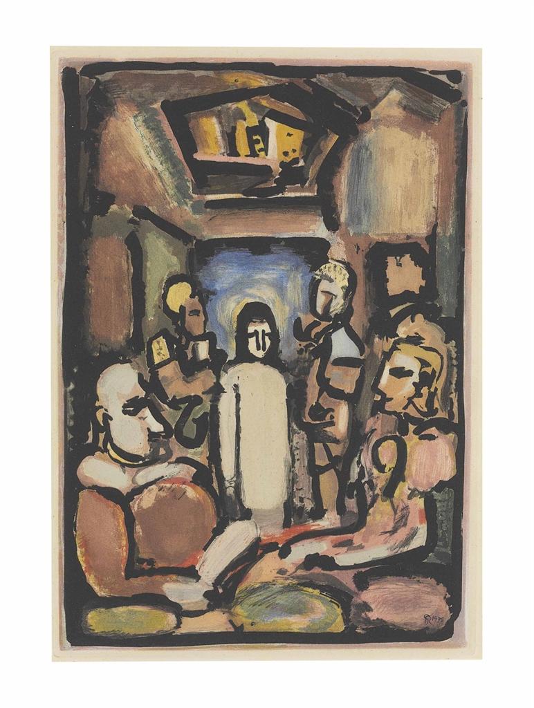 Georges Rouault-Four Prints by the Artist (Christ et Sainte Femme; Ecce Dolor; Le Christ et Mammon; Christ en Croix)-1936