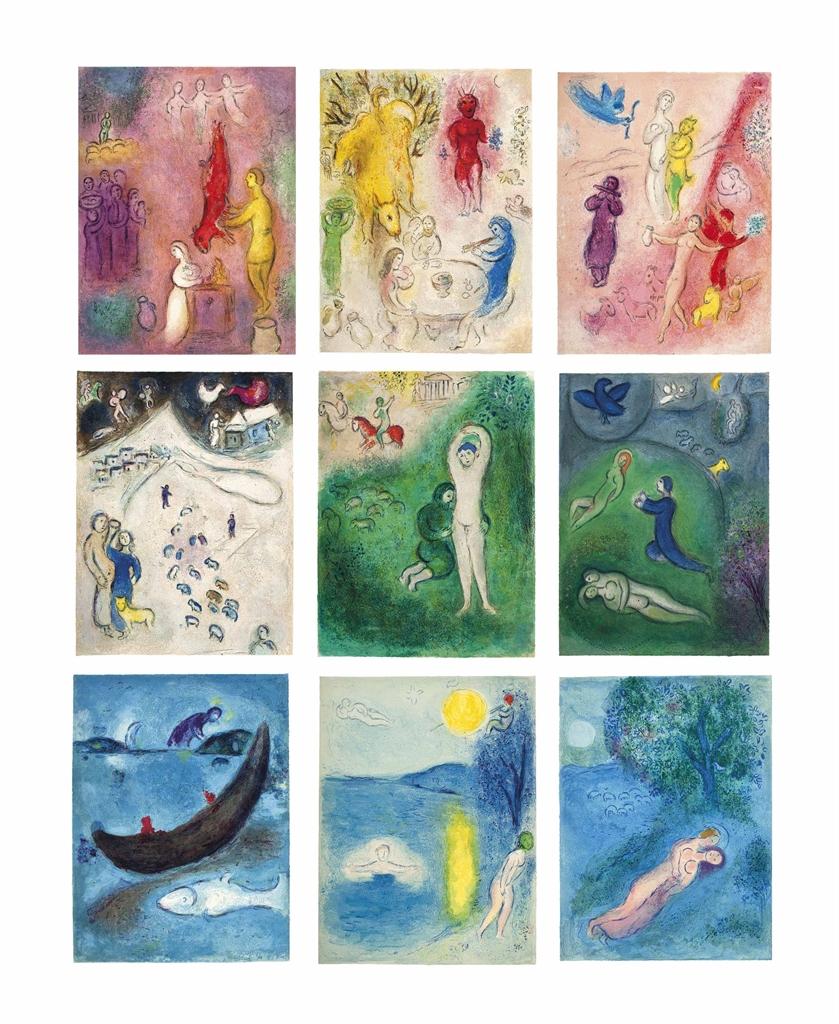 Marc Chagall-Longus, Daphnis et Chloe, Teriade Editeur, Paris, 1961-1961