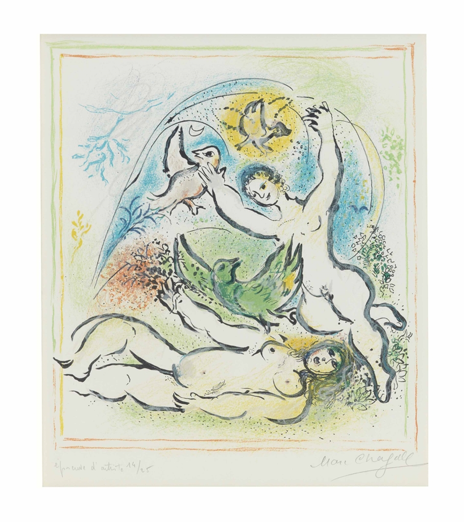 Marc Chagall-Sur la Terre des Dieux: one plate-1967