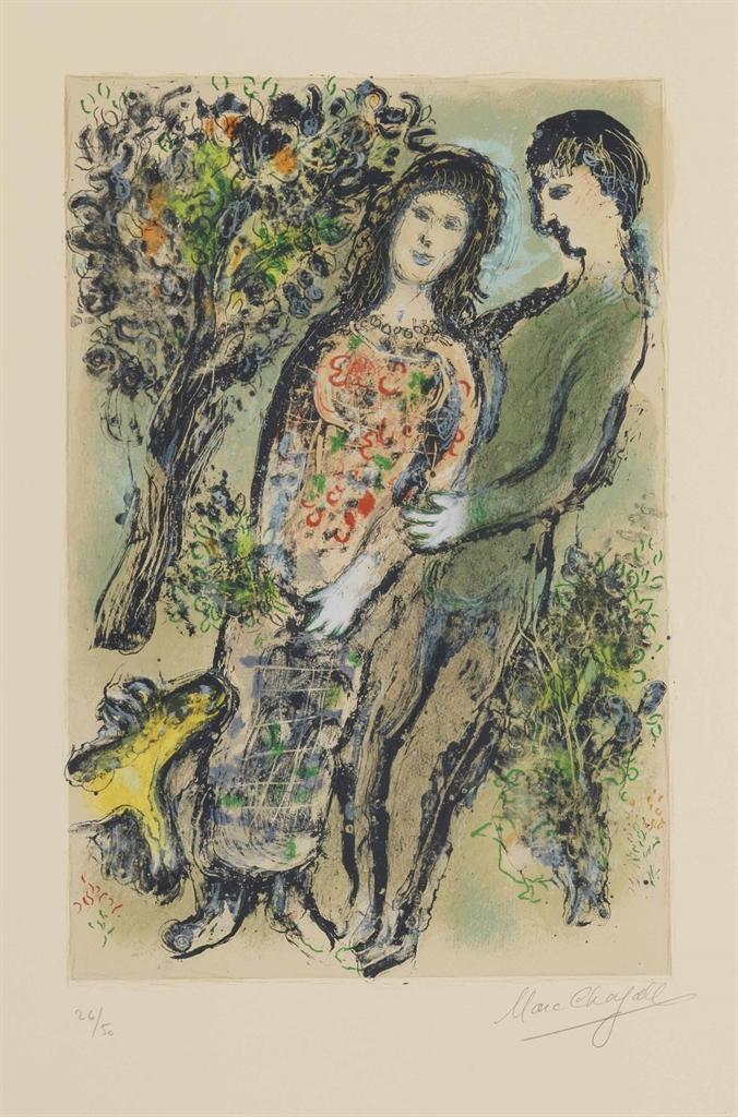Marc Chagall-L'Oranger-1975