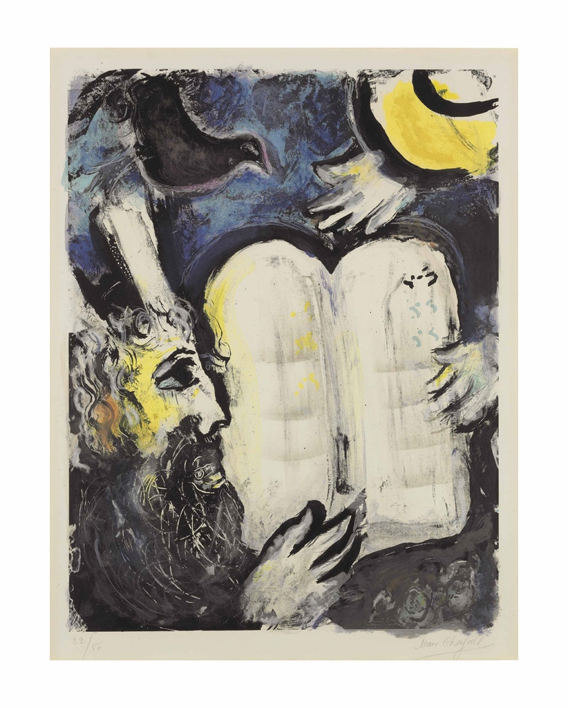 Marc Chagall-Moise et les Tables de la Loi-1962