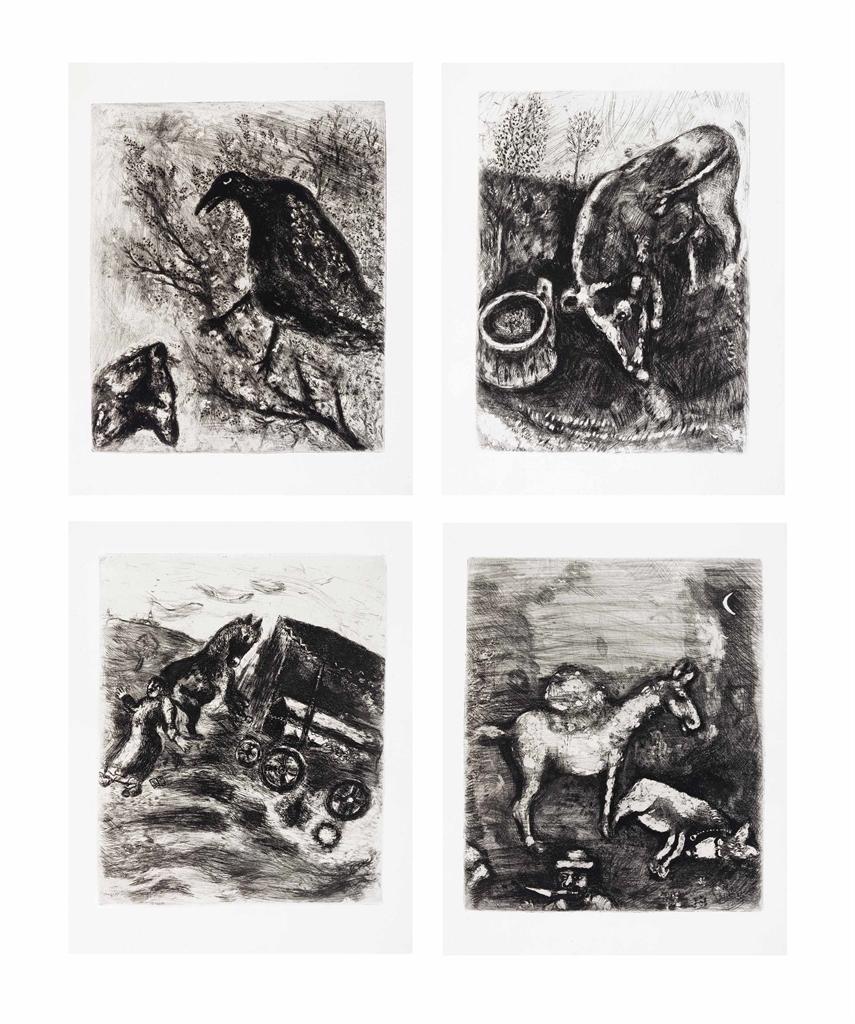 Marc Chagall-Jean de La Fontaine, Fables, Paris, Teriade Editeur, 1952-1952