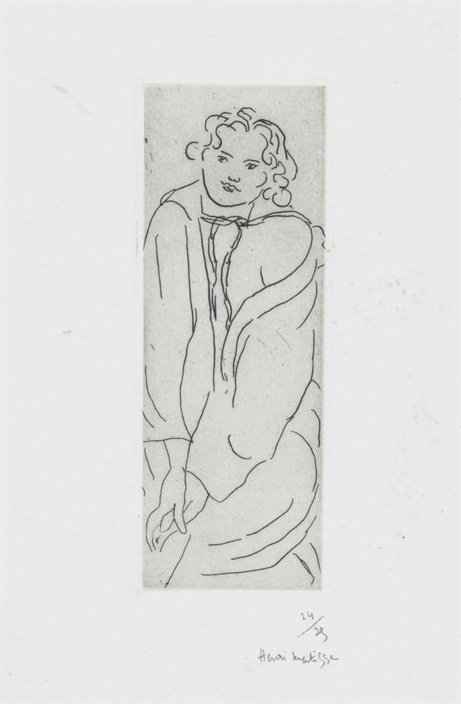 Henri Matisse-Figure au Peignoir-1929