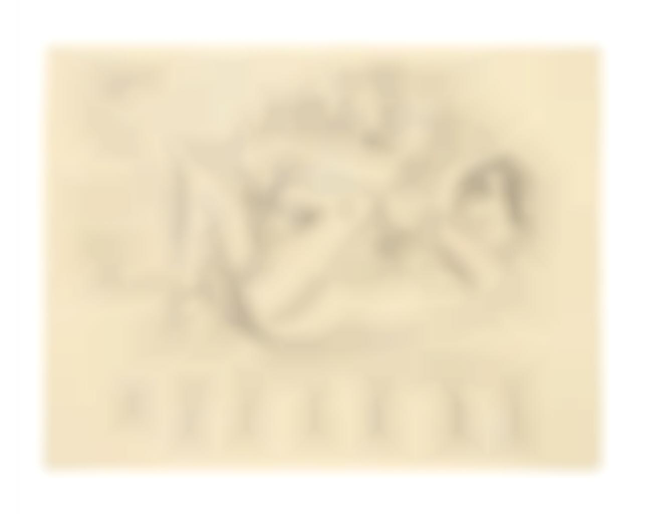 Henri Matisse-Nu reversee, pres d'une table Louis XV-1929