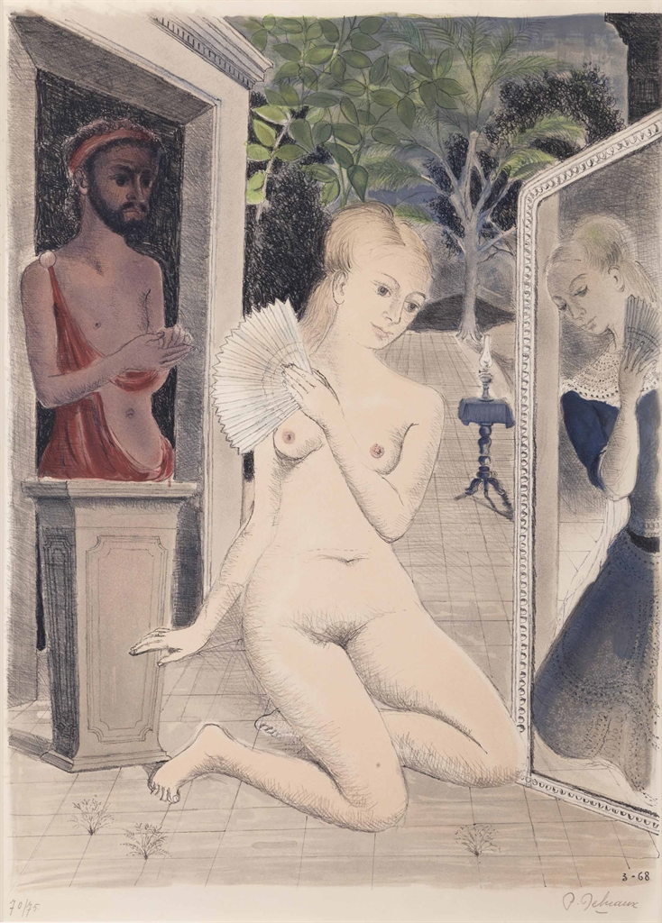 Paul Delvaux-L'Eventail-1968
