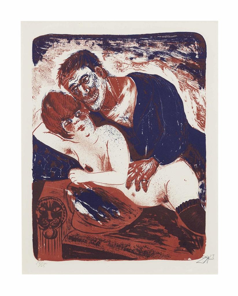 Otto Dix-Matrose und Madchen-1923