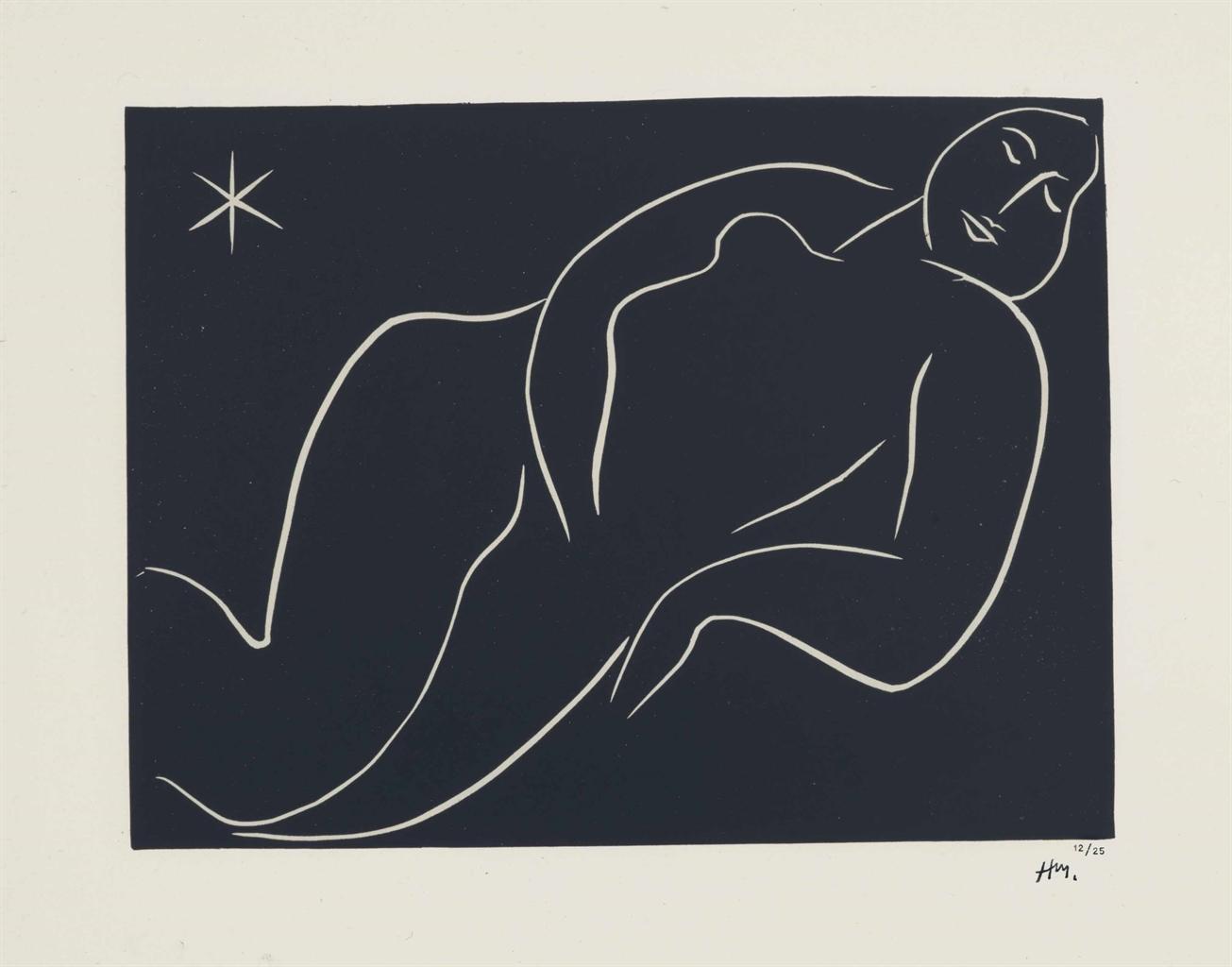 Henri Matisse-Nu a l'etoile-1938
