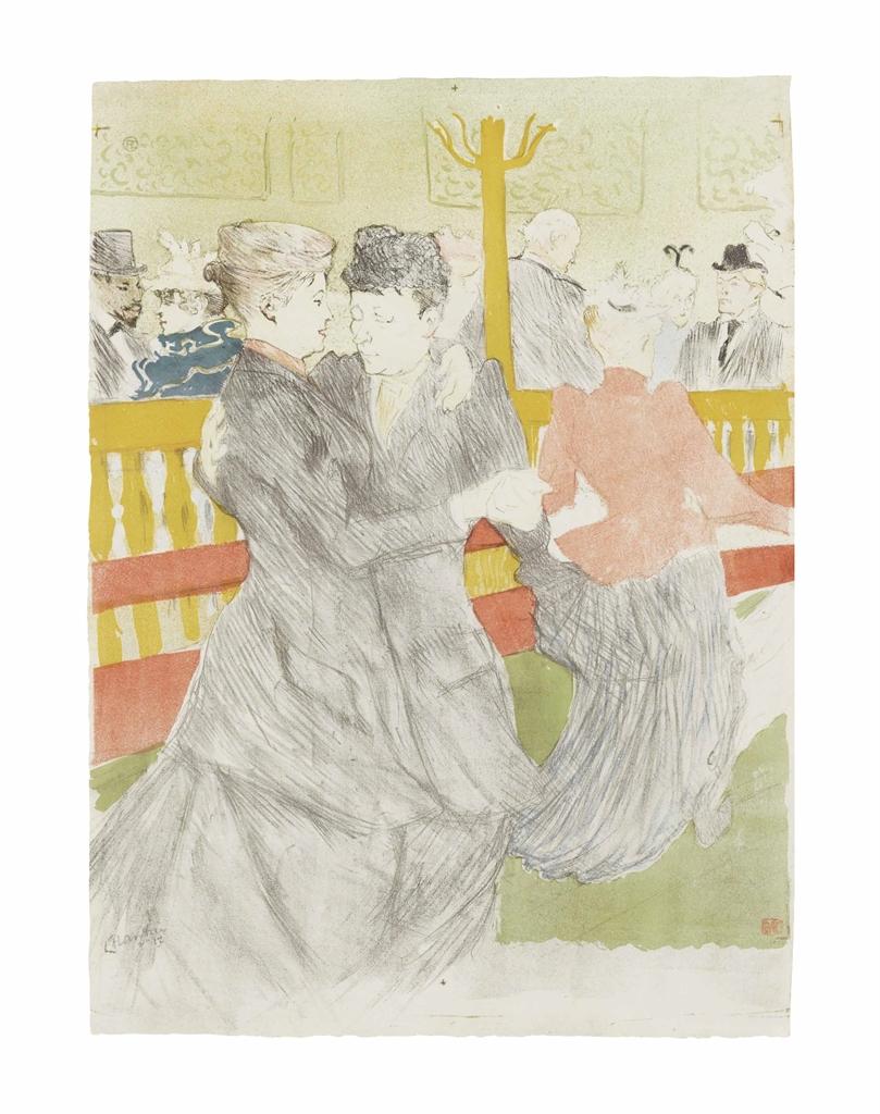 Henri de Toulouse-Lautrec-La Danse au Moulin Rouge-1897