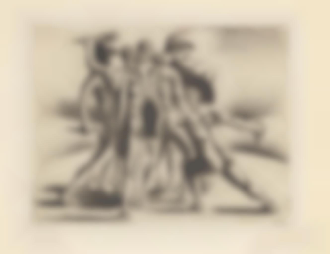 Giorgio de Chirico-Combattimento di Gladiatori, from Jean Cocteau Le Mystere Laic-1928