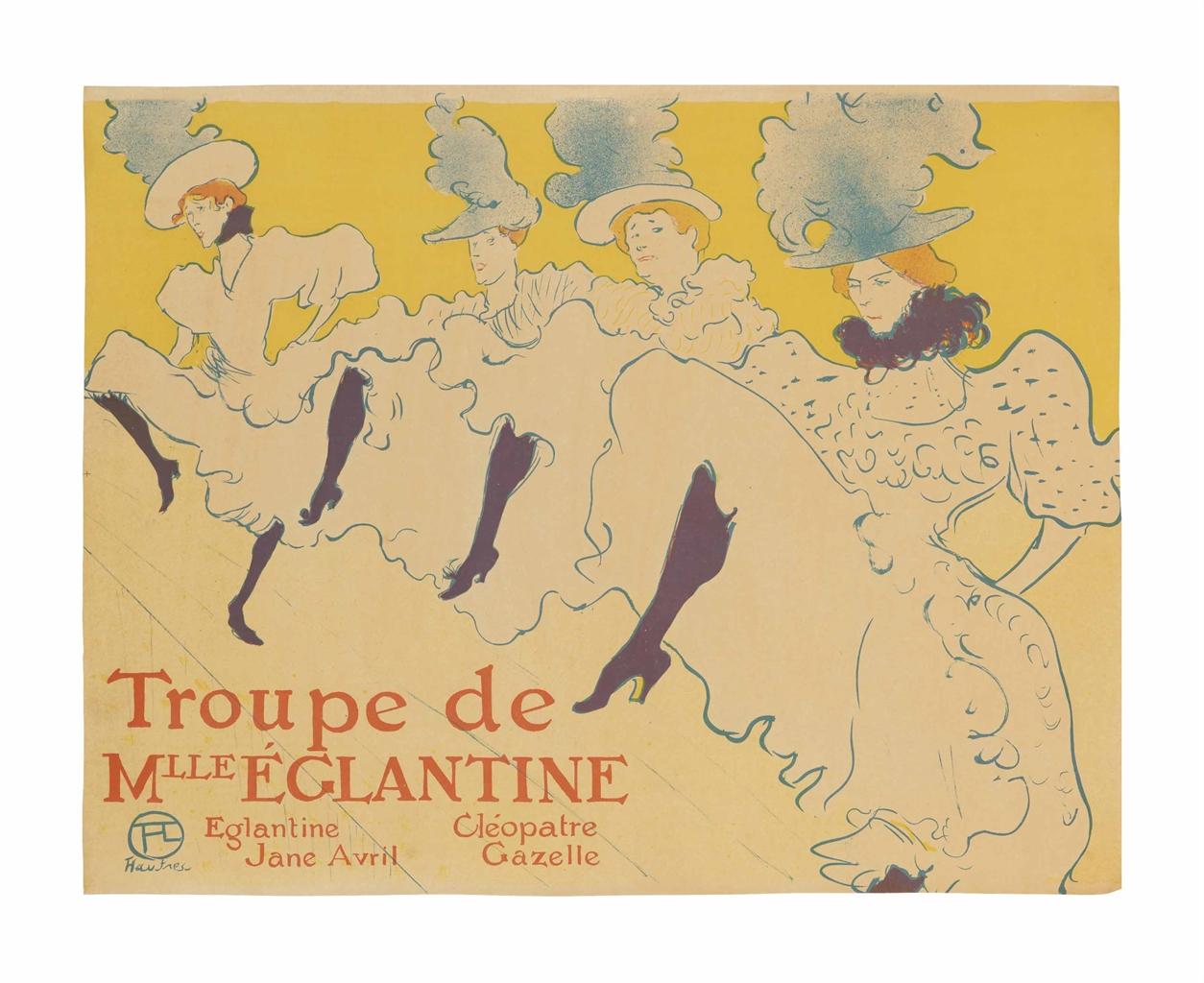 Henri de Toulouse-Lautrec-La Troupe de Madamoiselle Eglantine-1896