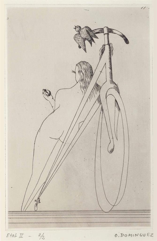 Oscar Dominguez-Femme a la bicyclette-1935