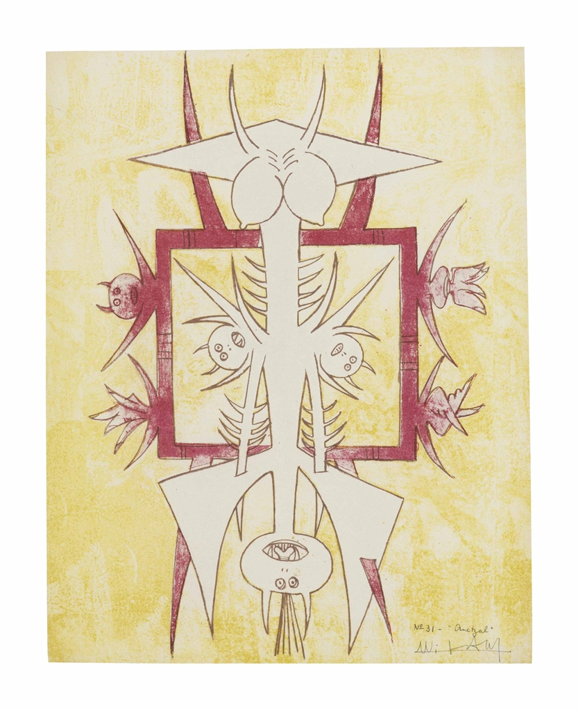 Wifredo Lam-Quetzal, from Brunidor Portfolio Number 1-1947